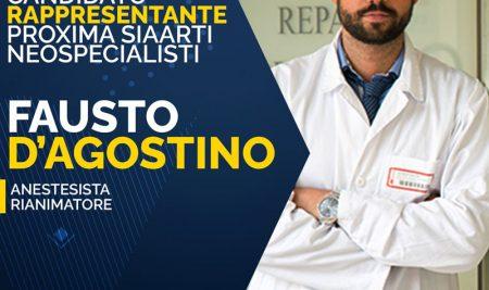 Il Presidente dell'ITC American Heart Association Dott. Fausto D'Agostino candidato alle elezioni SIAARTI